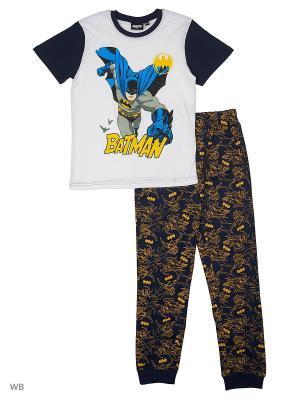 Пижама: футболка, брюки Modis. Цвет: белый, желтый