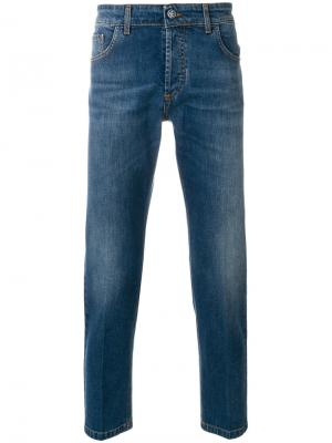 Прямые джинсы Entre Amis. Цвет: синий