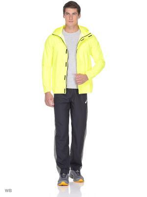Куртка Rain Jacket ASICS. Цвет: желтый
