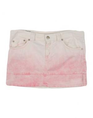 Джинсовая юбка DONDUP DQUEEN. Цвет: светло-розовый