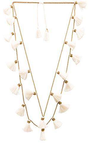 Ожерелье с кисточками dara Natalie B Jewelry. Цвет: металлический золотой
