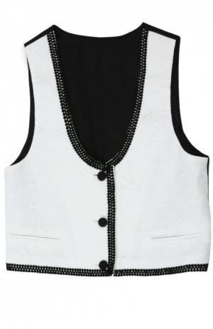 Жилет Dolce & Gabbana. Цвет: белый