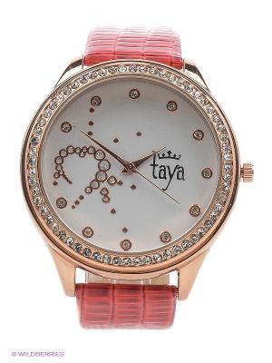 Часы Taya. Цвет: золотистый, красный