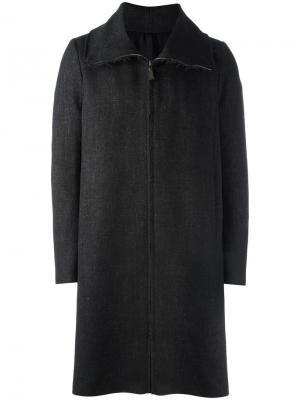 Пальто на молнии Poème Bohémien. Цвет: серый