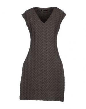 Короткое платье SOOZ BY ISABEL C.. Цвет: свинцово-серый