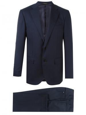 Pinstripe formal suit Corneliani. Цвет: синий