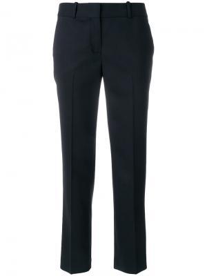 Прямые укороченные брюки Ermanno Scervino. Цвет: синий