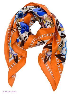 Платок Venera. Цвет: оранжевый, белый, коричневый