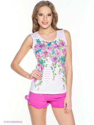 Пижама PELICAN. Цвет: белый, розовый