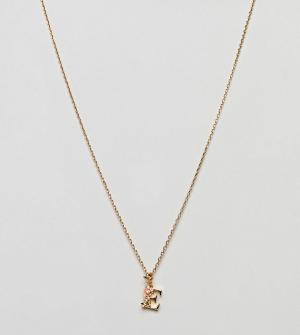 Bill Skinner Ожерелье с подвеской Е. Цвет: золотой