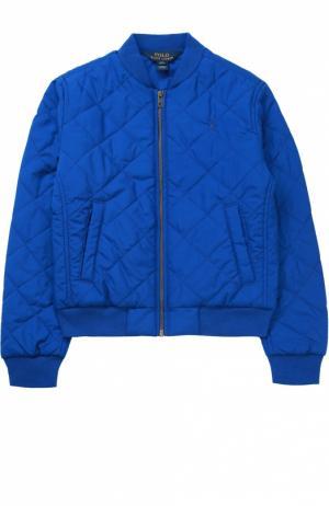 Стеганая куртка на молнии Polo Ralph Lauren. Цвет: синий