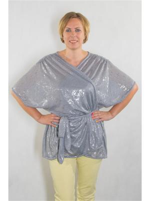 Блузка Brava Catalan. Цвет: серый