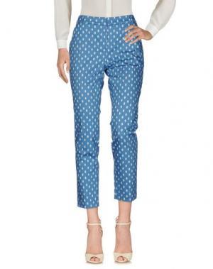 Повседневные брюки PESERICO SIGN. Цвет: лазурный