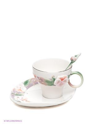 Чайная пара Виола Pavone. Цвет: молочный