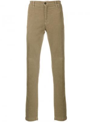 Классические текстурированные брюки Massimo Alba. Цвет: коричневый