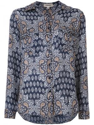 Рубашка с цветочным узором Lagence L'agence. Цвет: синий
