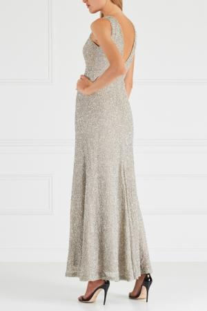 Платье с пайетками Chapurin. Цвет: серебряный