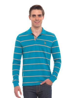 Лонгслив U.S. Polo Assn.. Цвет: голубой