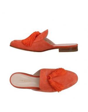 Мюлес и сабо LERRE. Цвет: оранжевый