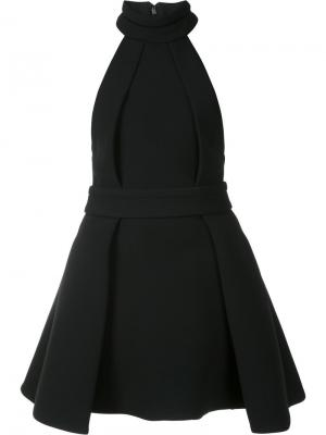 Расклешенное плиссированное платье Brandon Maxwell. Цвет: чёрный