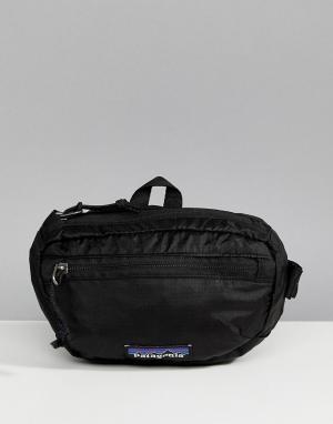 Patagonia Легкая черная сумка-кошелек на пояс. Цвет: черный
