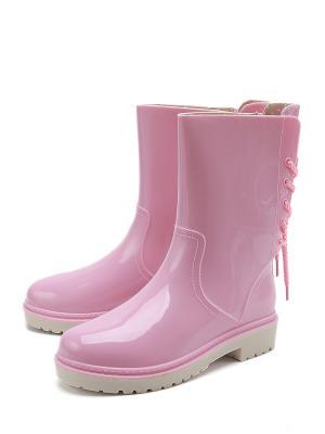 Резиновые сапоги KEDDO. Цвет: розовый