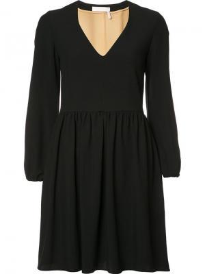Многоярусное платье с принтом звезд A.L.C.. Цвет: чёрный