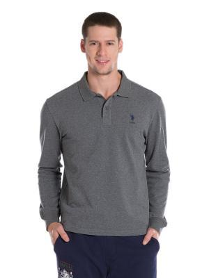 Лонгслив U.S. Polo Assn.. Цвет: серый