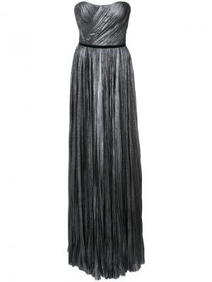 Плиссированное платье без бретелек J. Mendel. Цвет: серый