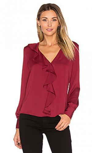 Блуза с рюшами LAcademie L'Academie. Цвет: вишня