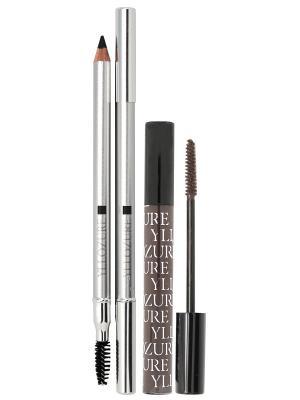 Набор декоративной косметики YZ (yllozure):гель для бровей+карандаш бровей. ИЛЛОЗУР. Цвет: черный, коричневый