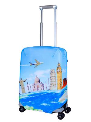 Чехол для чемодана  Voyager S Coverway. Цвет: голубой