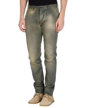 Повседневные брюки DNM-BRAND. Цвет: зеленый