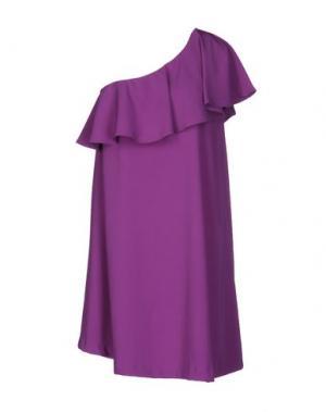 Короткое платье MARIAGRAZIA PANIZZI. Цвет: фиолетовый