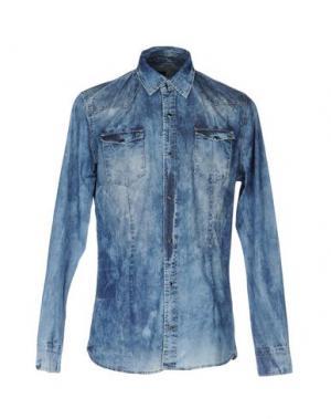 Джинсовая рубашка DANIELE ALESSANDRINI. Цвет: синий