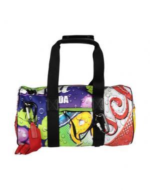 Дорожная сумка MOSCHINO. Цвет: фиолетовый