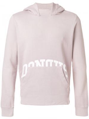 Толстовка с карманом спереди Dondup. Цвет: розовый и фиолетовый