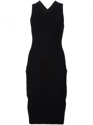 Облегающее трикотажное платье Edun. Цвет: чёрный