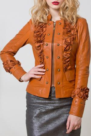 Куртка кожаная SUSSEX. Цвет: мультицвет