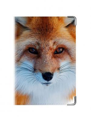 Обложка для паспорта Лиса Tina Bolotina. Цвет: оранжевый, белый