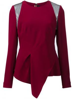 Блузка Ebner Roland Mouret. Цвет: розовый и фиолетовый