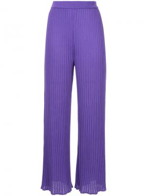 Ribbed knit pants G.V.G.V.. Цвет: розовый и фиолетовый