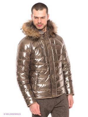 Куртка STEFANO FERRI. Цвет: золотистый