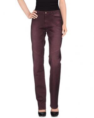 Повседневные брюки 9.2 BY CARLO CHIONNA. Цвет: баклажанный