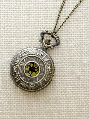 Кулон-часы Знаки Зодиака Mitya Veselkov. Цвет: бронзовый