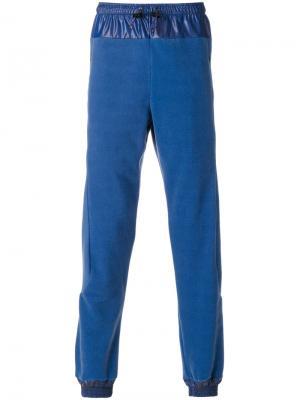 Спортивные брюки с панельным дизайном Cottweiler. Цвет: синий