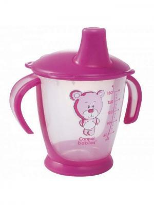 Чашка-непроливайка, 180 мл. Медвежонок 9м+ Canpol babies. Цвет: красный, прозрачный