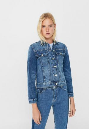 Куртка джинсовая Mango. Цвет: синий