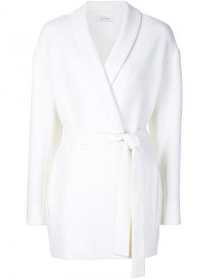 Пиджак с поясом Ryan Roche. Цвет: белый