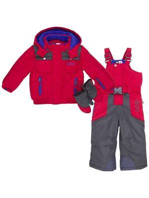 Комплект одежды CHICCO. Цвет: красный